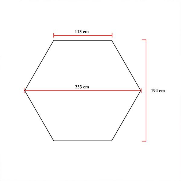 โรงเรือนหกเหลี่ยม (พื้นที่ 3.3ตร.ม.)